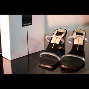 Dolce Vita Snake Print Block Heels